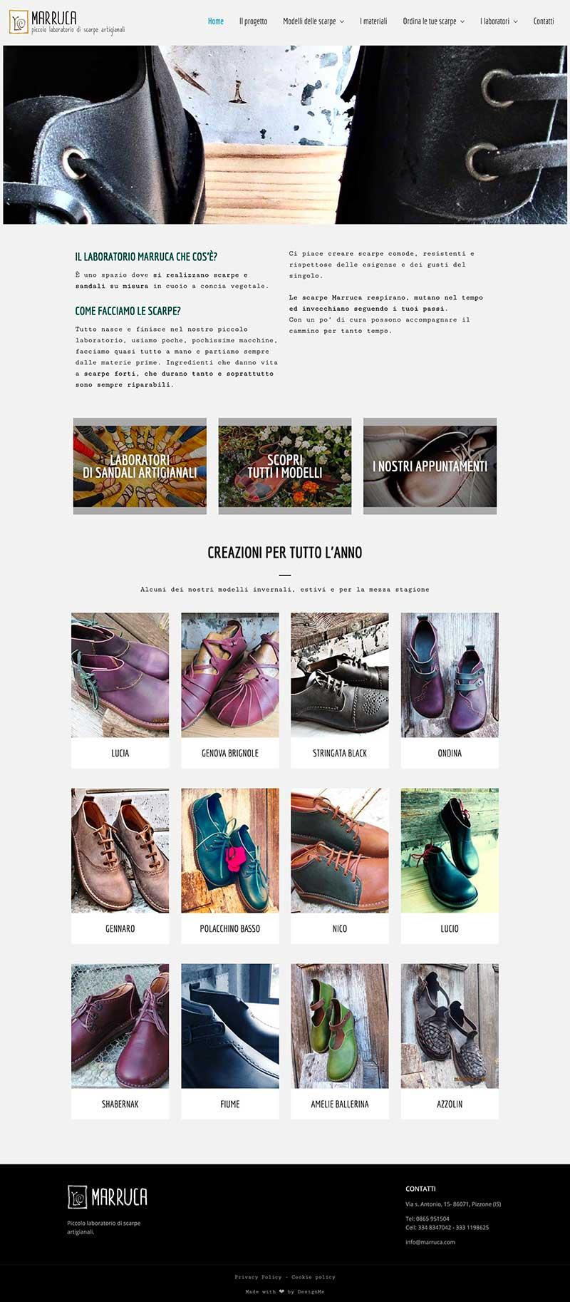 Laboratorio scarpe artigianali Marruca